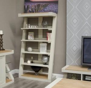 PZLBC Z Design Painted Large bookcase natural oak top shelf