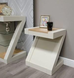 PZLT Z Designer Painted Lamp table natural top