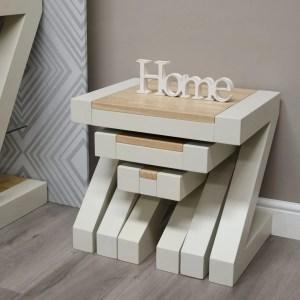 PZNEST Z Design nest of tables natural top