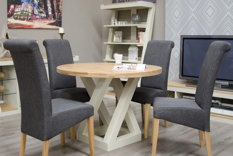 PZRNDTAB Painted Z Round Table natural top