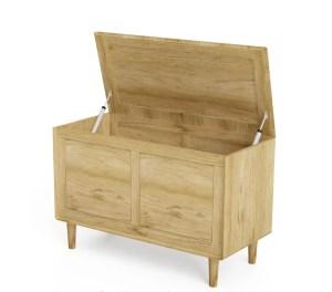 SCABB Scandic oak blanket box