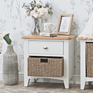 GA-C11-W Weybourne 1 drawer 1 basket