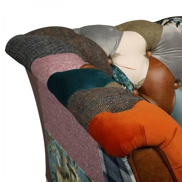 Rutland patchworkd sofa 3 seater V3
