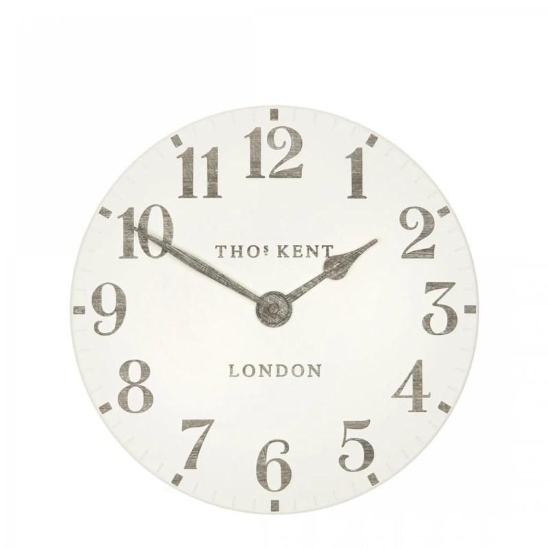thomas kent arabic wall clock 12 inch limestone v3
