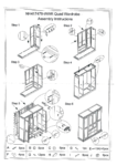 Lundy Quad wardrobe Assembly Instructions from 2021