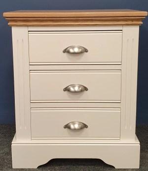 Clarke WIDE 3 drawer bedside V1