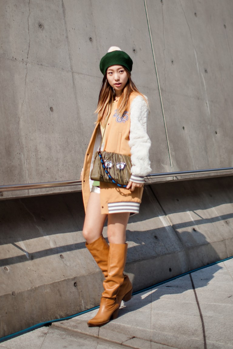 On the street… Lee Jini Seoul fashion week 2016 SS