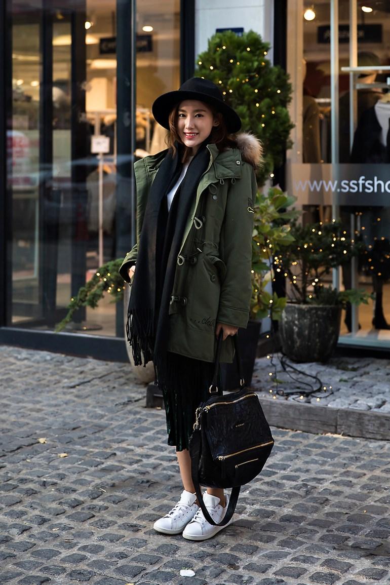 AngelChiang, Street style women winter 2017 inseoul