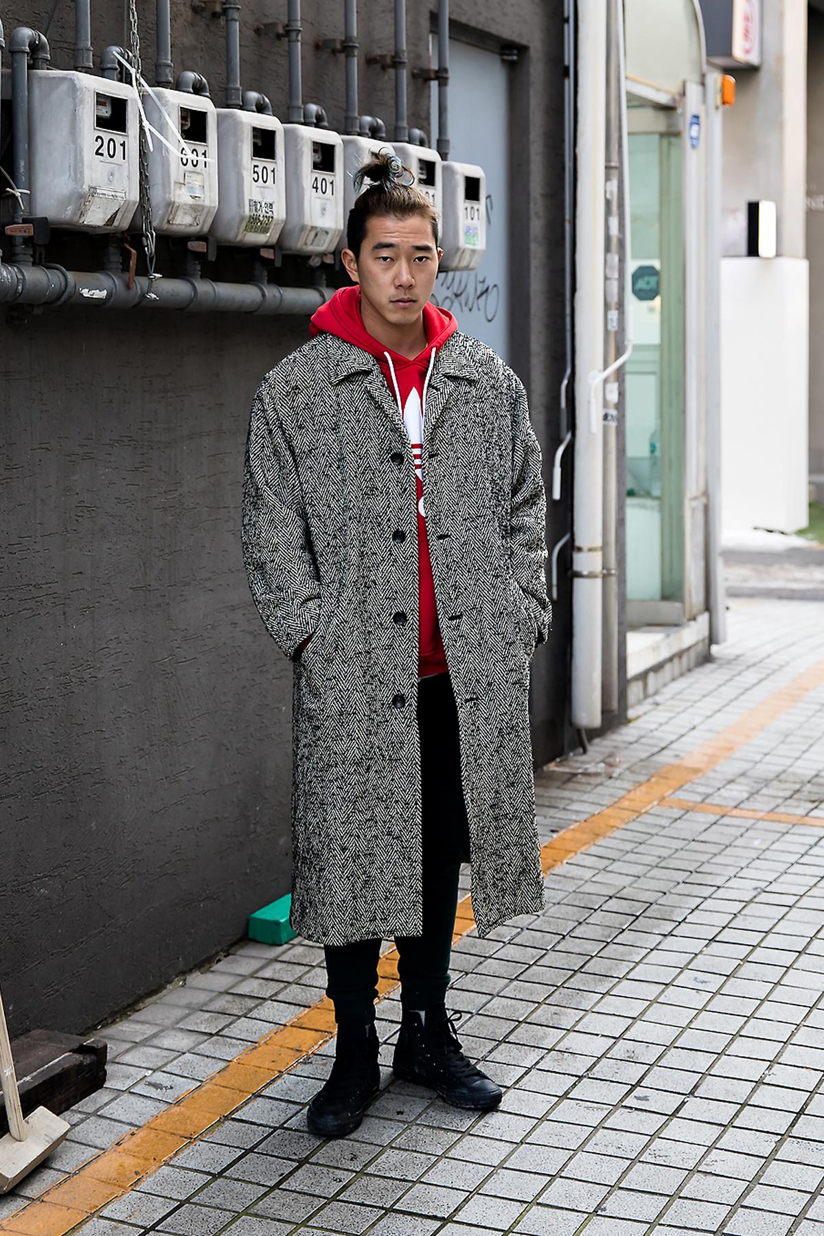 Jeon Jaehan, Street style men winter 2017-2018 inseoul