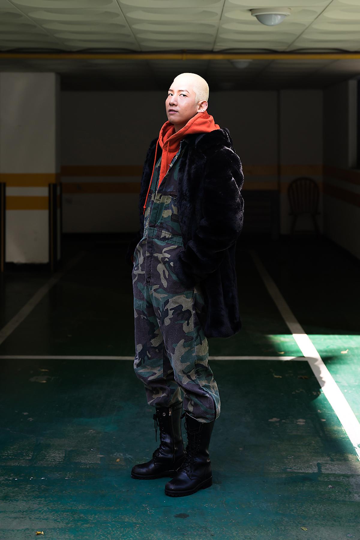 Kim Dongmin, Street style men winter 2017 inseoul