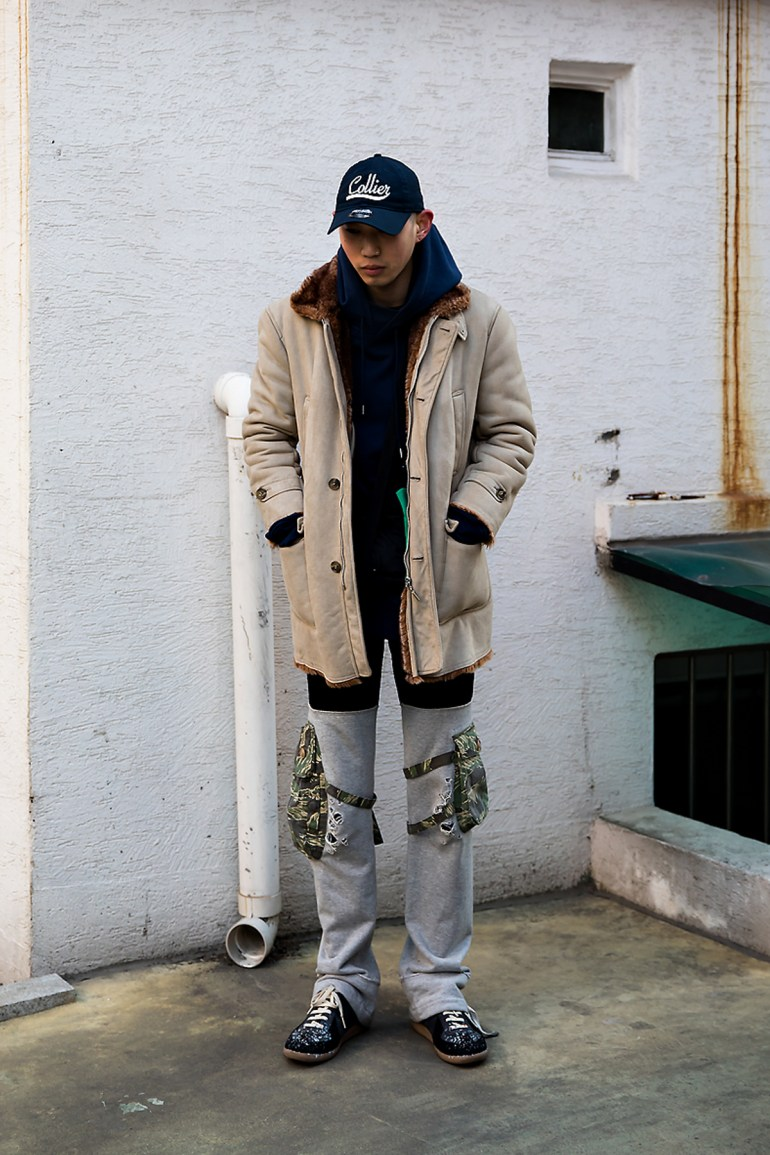 Park Sinwoo, Street style men winter 2017 inseoul