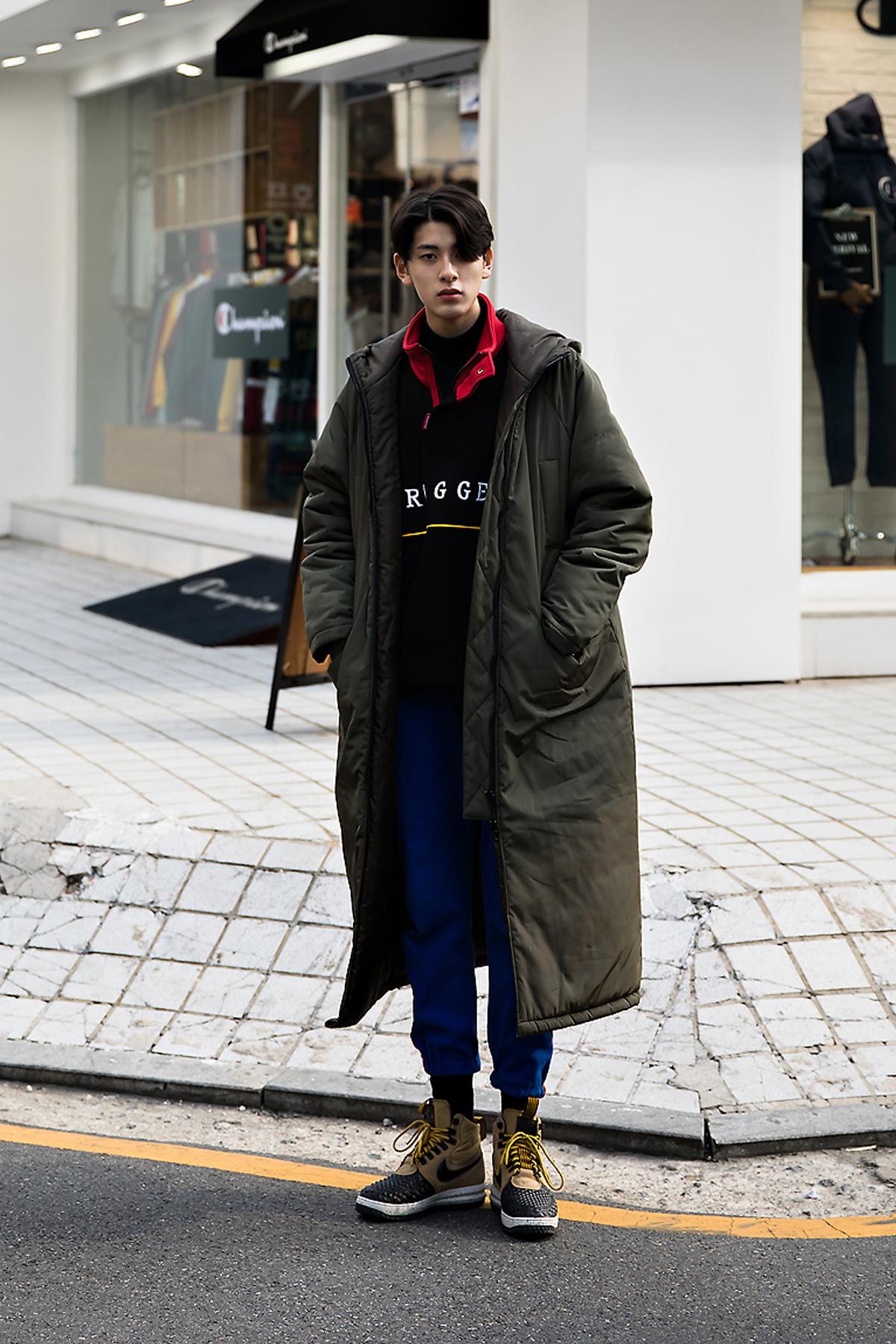 Woo Jinkyung, Street style men winter 2017 inseoul