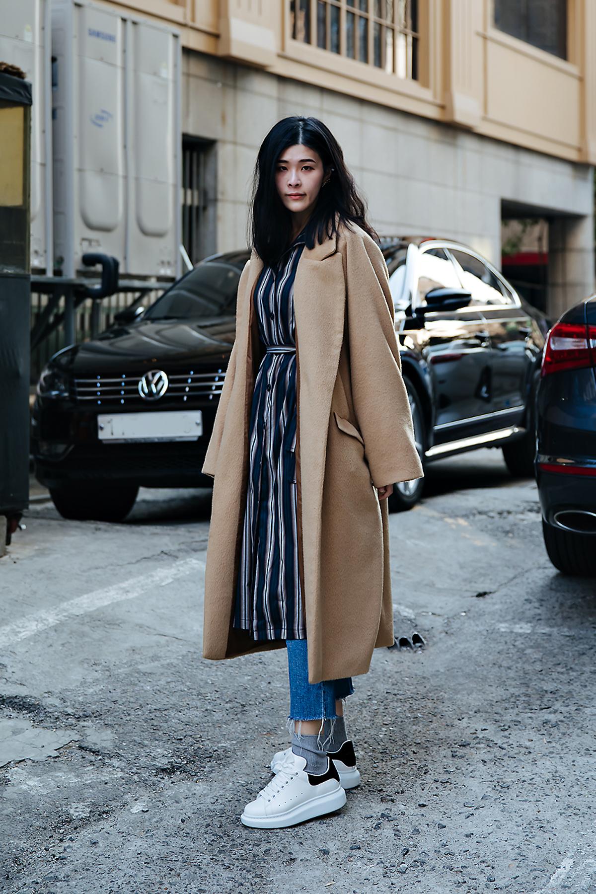 Choi Jangho, Street style women winter 2017-2018 inseoul
