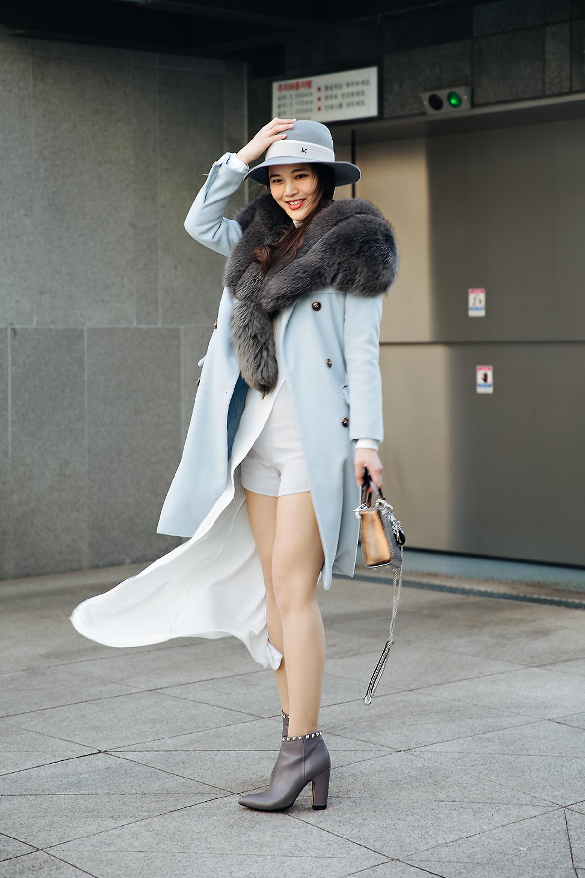 Gam Pukdeetanakul, Street style women winter 2017-2018 inseoul