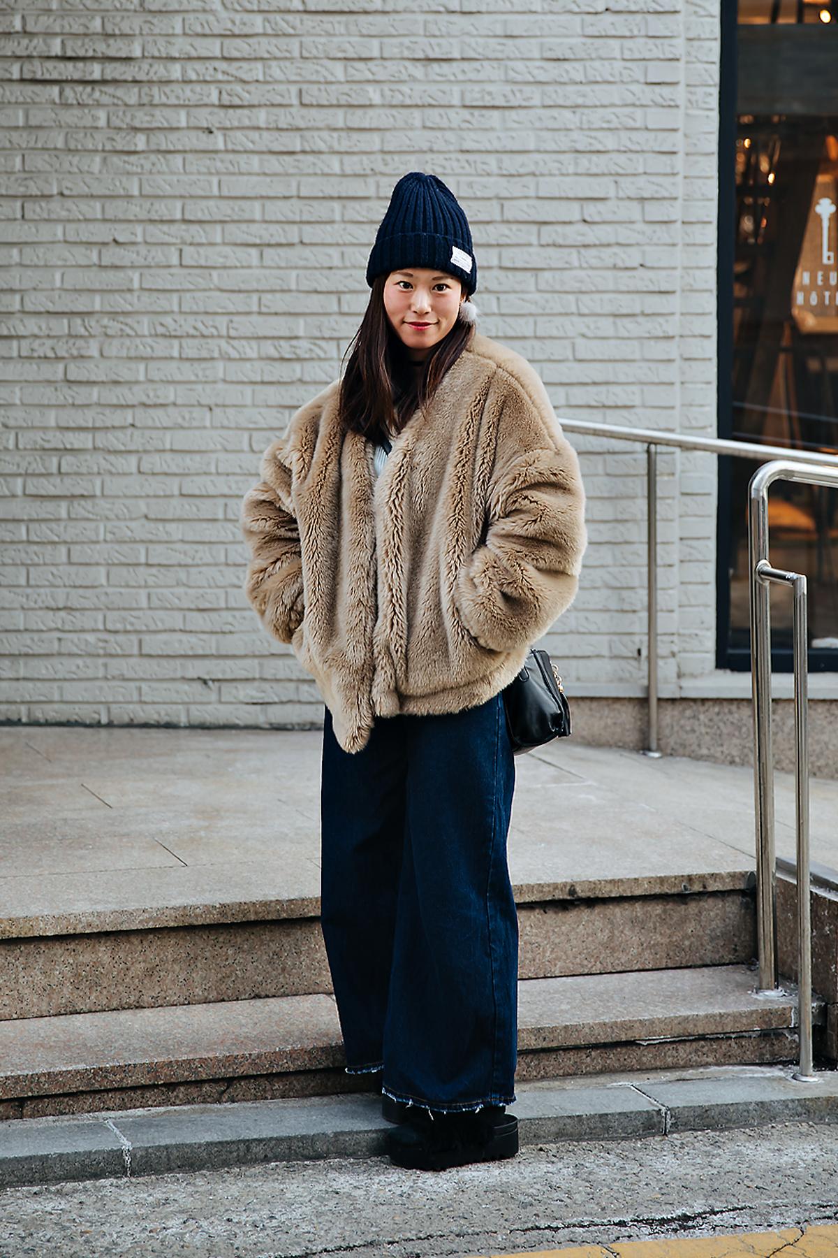 Honami, Street style women winter 2017-2018 inseoul