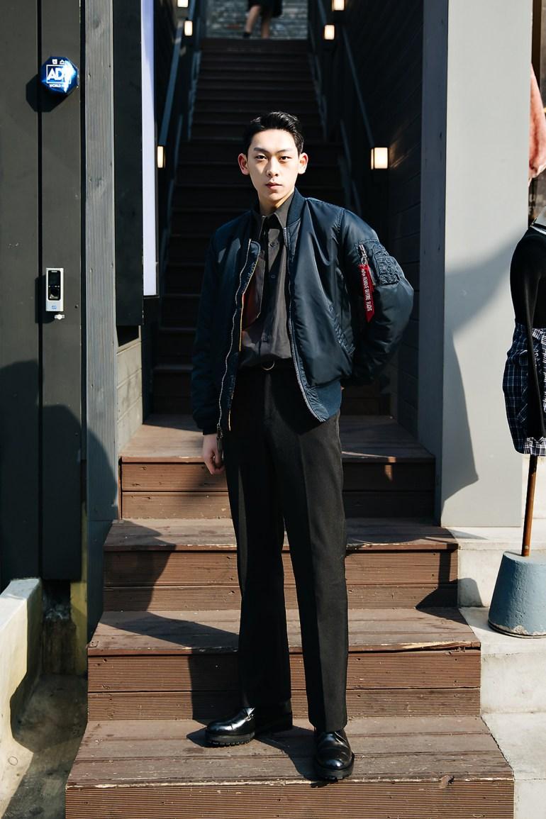 Seo Jinwoo, Street style men winter 2017-2018 inseoul