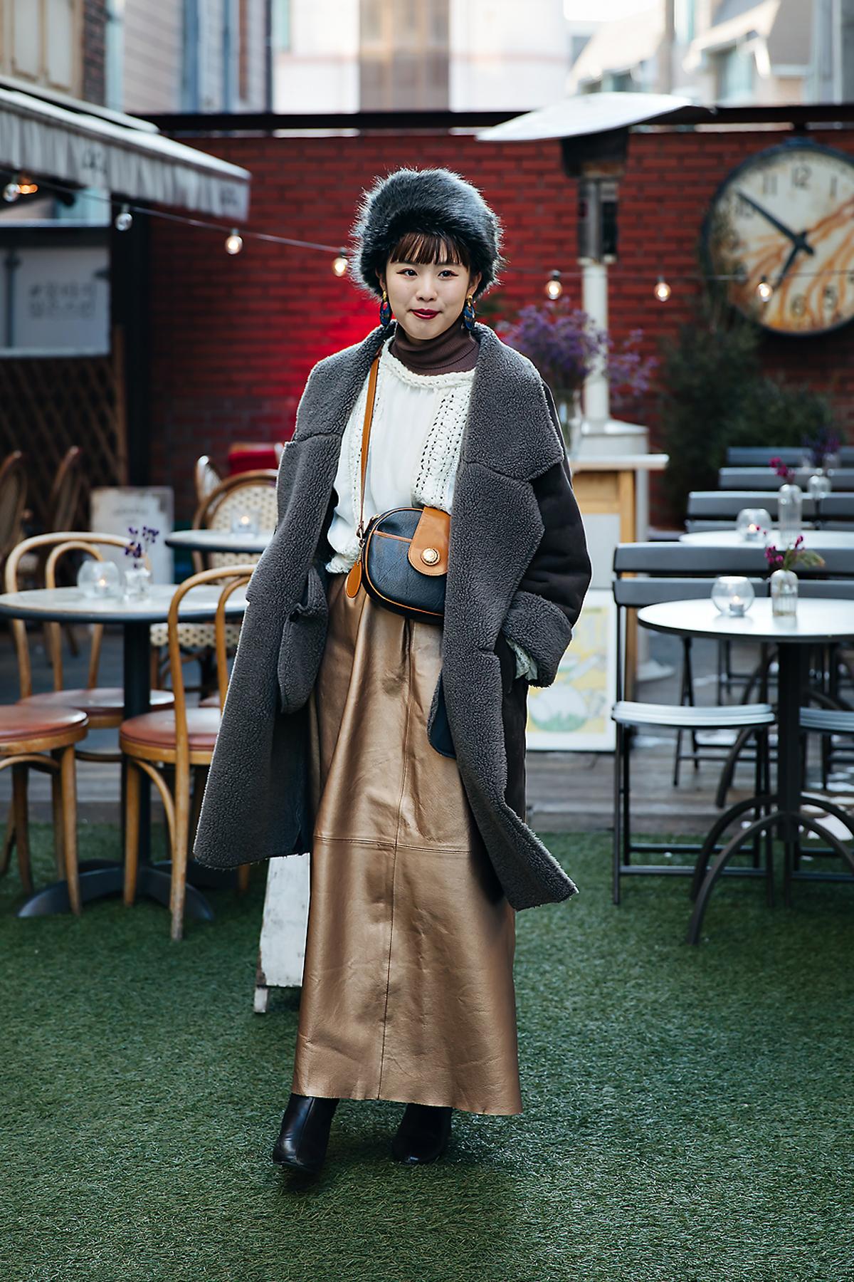 Yuriko Kanaya, Street style women winter 2017-2018 inseoul