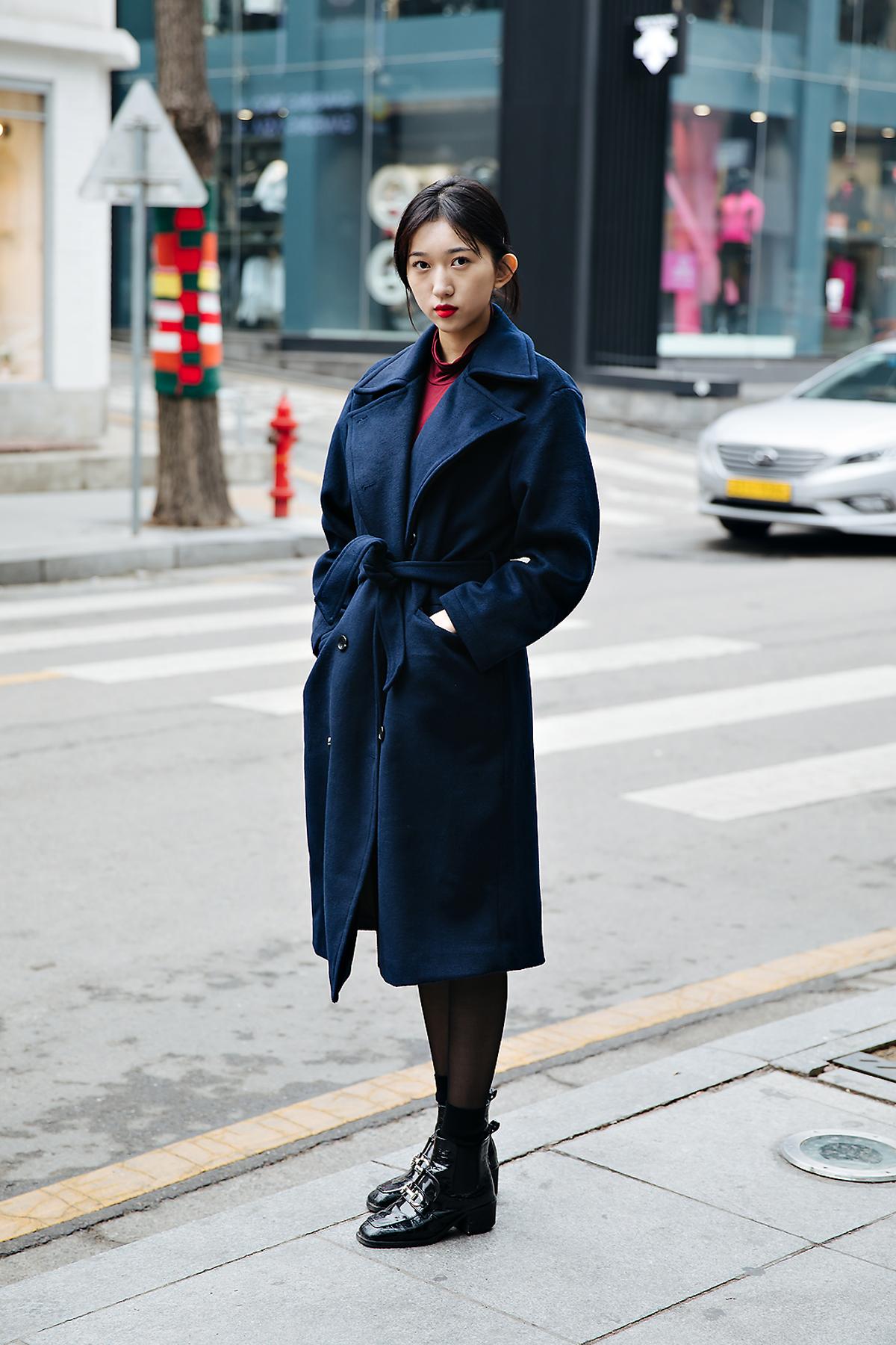 Ha Jiwon, Street style women winter 2017-2018 inseoul