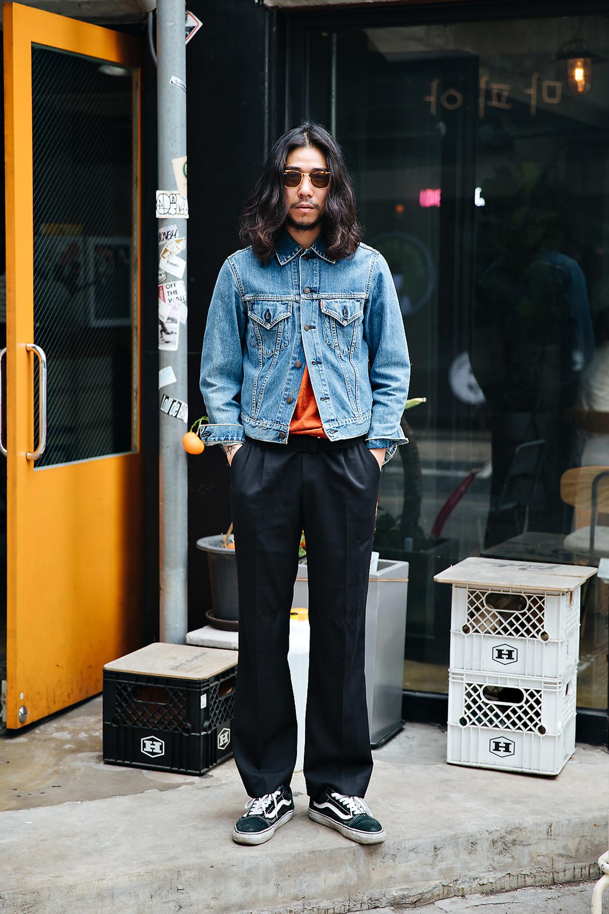 Yoon Jiwon, Street style men spring 2018 inseoul
