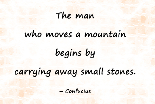 Daily Motivational quotes image about importance of small steps