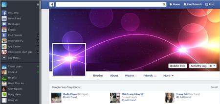 Thiết kế ảnh bìa Facebook độc đáo kết hợp giữa avatar và cover