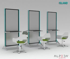Post lucru coafor / styling unit ALPEDA ISLAND WALL