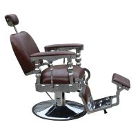 Scaun frizerie / barber chair SORRENTO maro antique