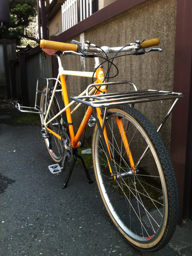 cicli KATSUO 自転車 イエロー 前