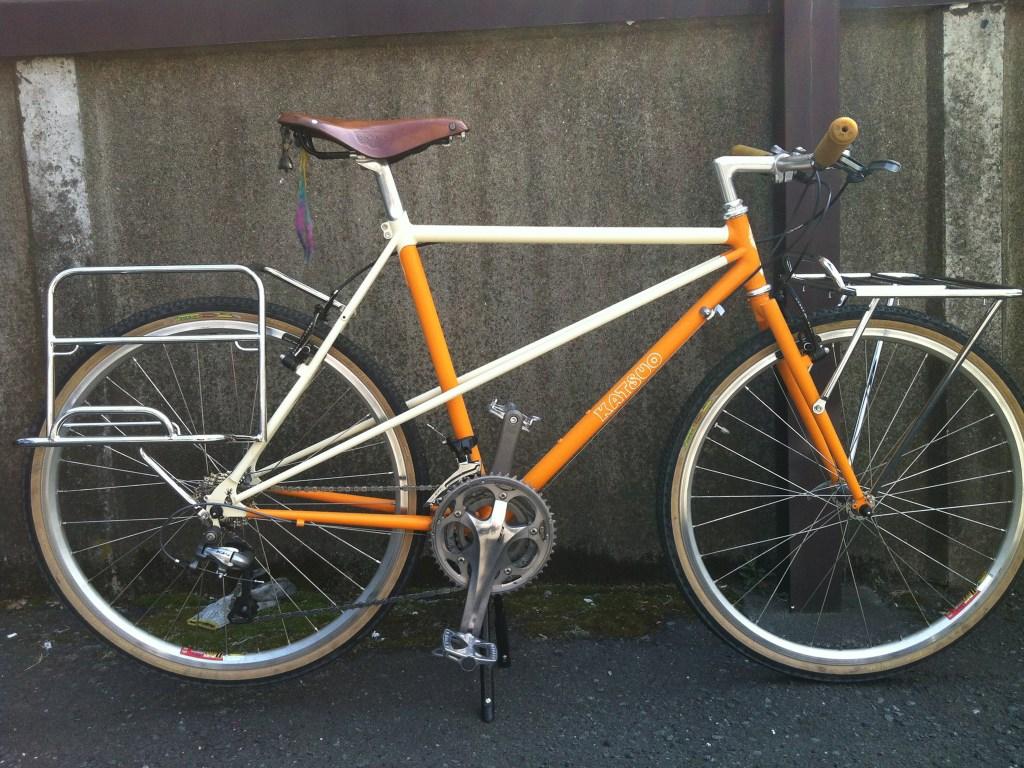 cicli KATSUO 自転車 イエロー 横