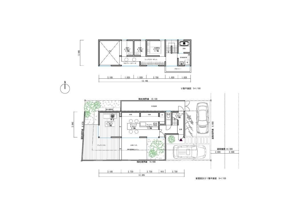 郊外型狭小住宅図面