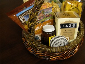 Themed gift baskets make great gifts. Photo used by Creative Commons License