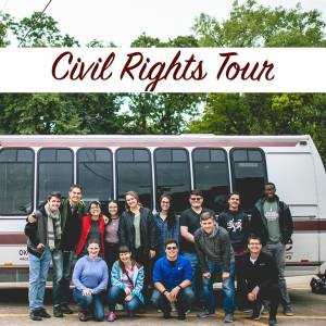 Civil Rights Bus Tour group