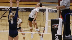 Bailee Turang spiking the ball