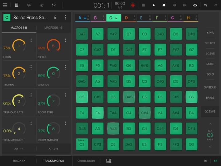 BeatMaker3 - 64 pads mode&macros