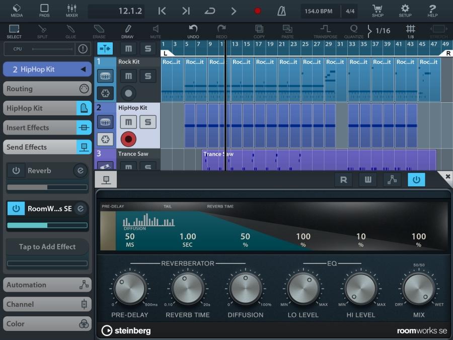 SteinbergのiPad DAWアプリ「Cubasis 2 - Mobile Music Creation System」がバージョン2.1にアップデート!