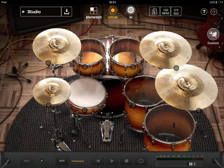 世界初!AI搭載 iPadバーチャルドラマーアプリ Positive Grid「X Drummer」がリリース!