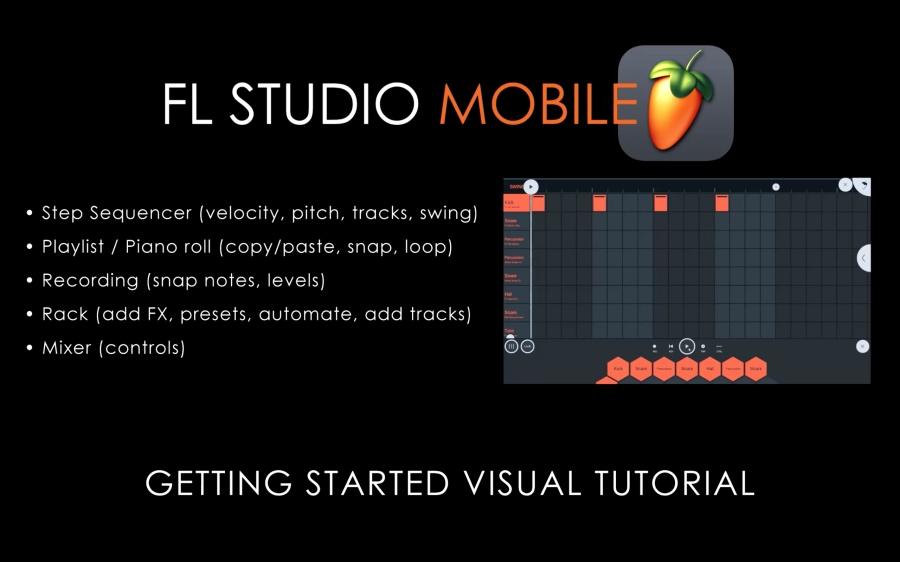 iOS / Android / Windows Phoneに対応したDAWアプリ「FL Studio Mobile 3」の とても分かりやすいチュートリアル動画が公開