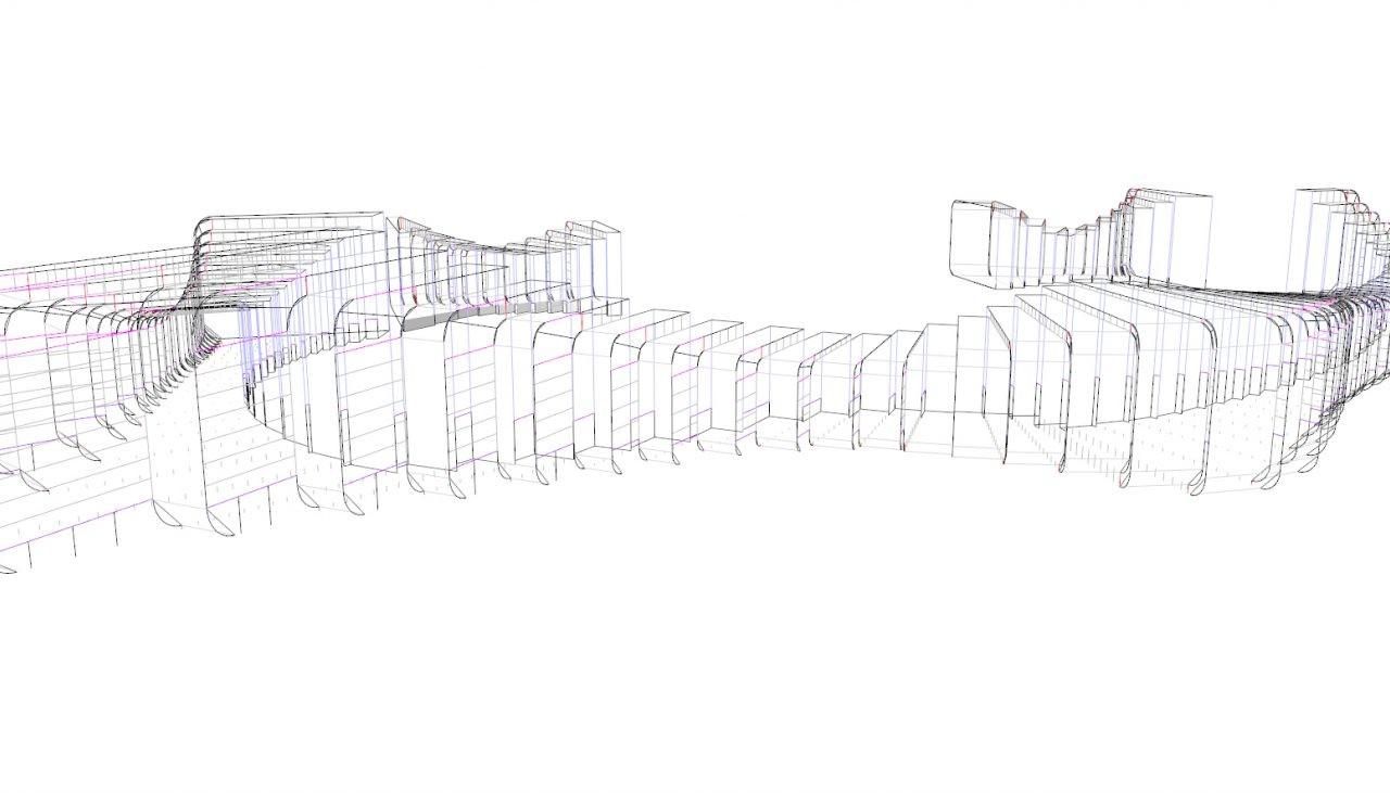 Footbridge geometry