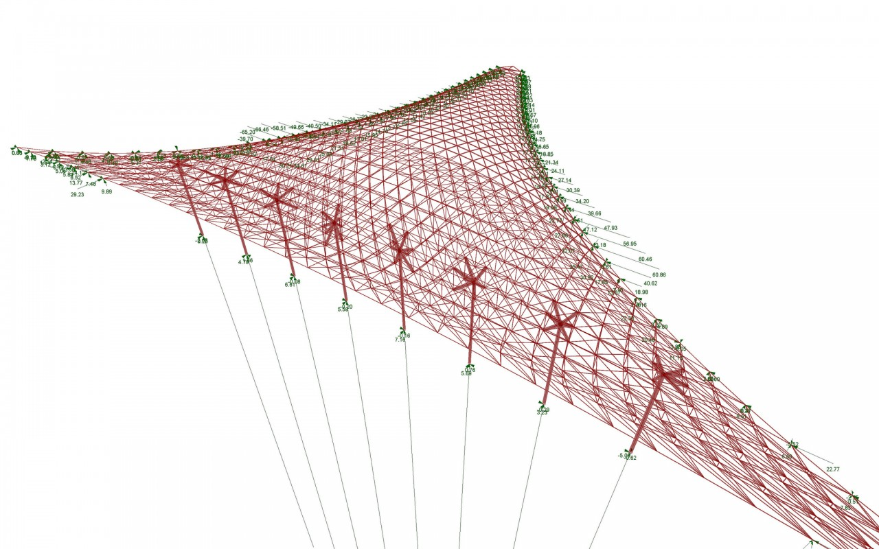 Structural Form-Finding of an hybrid gridshell