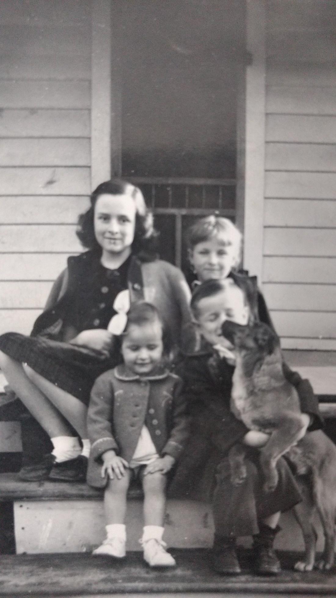 Nancy, Barbara, Jeanie, Ted, Skippy