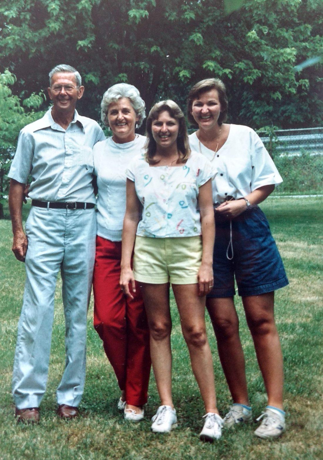 Christine's late husband Mac Kernode, Christine, Vicky, Penny