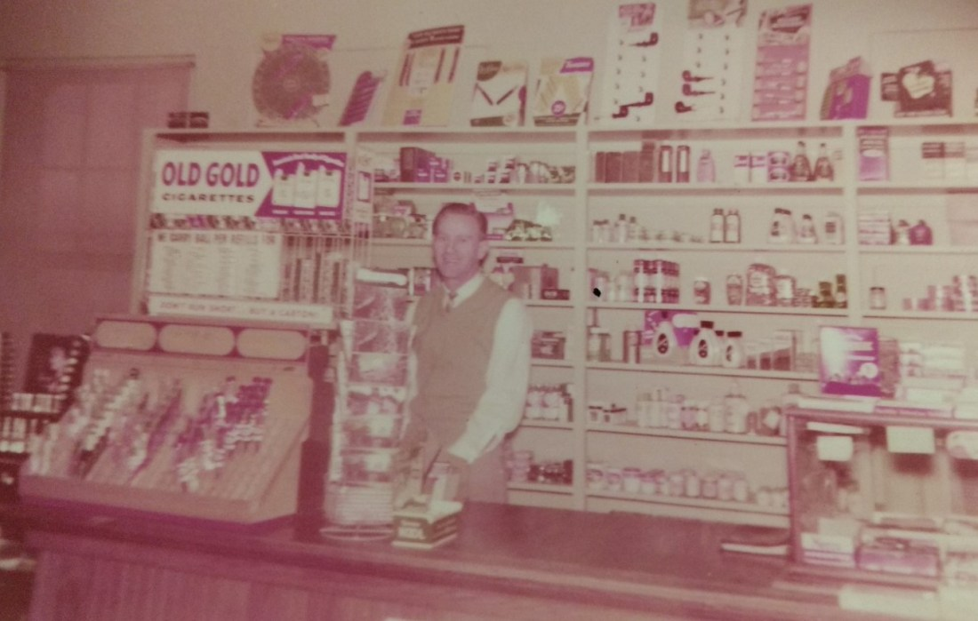 Clarence managing the store at the Sanitorium