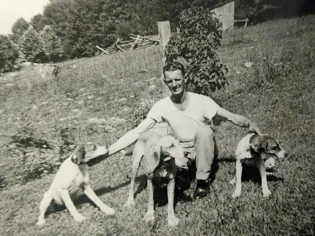 Dorsey and his hunting dogs