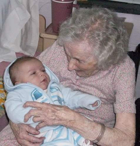 Granny and great, great-grandson Colton