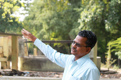 Mr. Selvapandian, CPREEC, Manager of the Sacred Grove Project