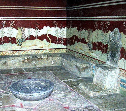 The Throne Room at Knossos.