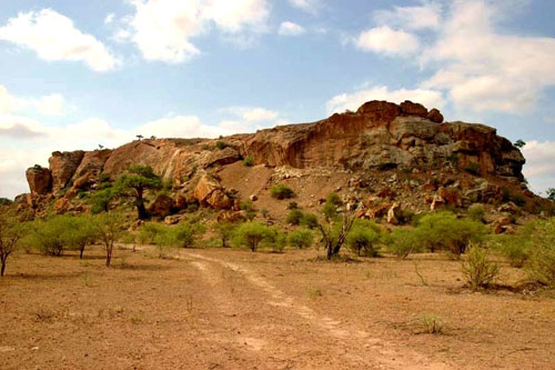 Mapungubwe Hill, a sacred hill in South Africa.