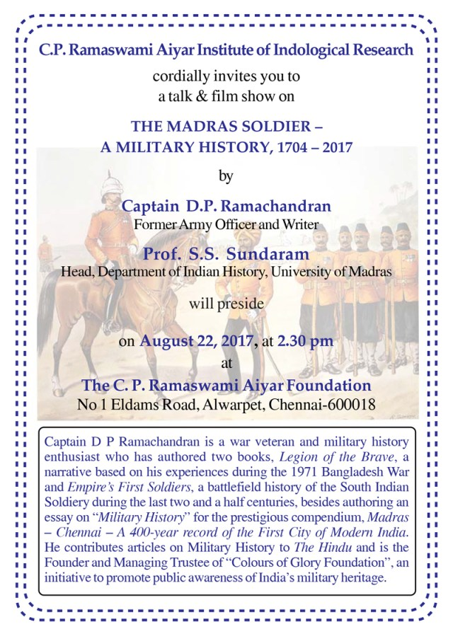 invitation-capt. ramachandran