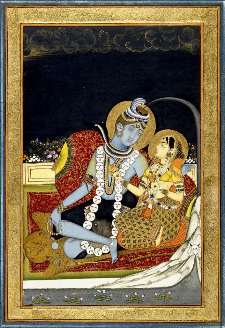 6_Śiva_and_Pārvatī_seated_on_a_terrace._1800_(circa)_BM