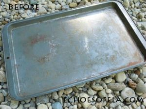rusty cookie sheet